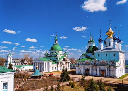 Panorama of Kremlin in Rostov Veliky in Yaroslavl oblast in Russia.