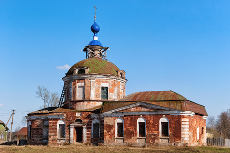 Znamenskaya Church in Yuryev Polsky town in Vladimir oblast in Russia. Stock Photo