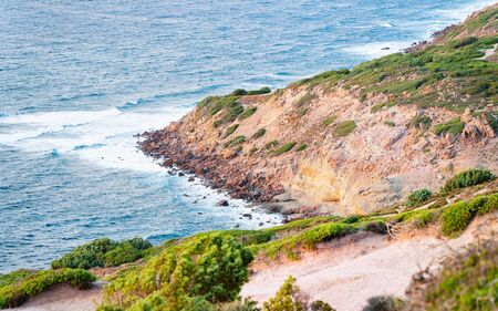 Coast of the Mediterranean sea at Portoscuso in Carbonia-Iglesias province, South Sardinia, Italy