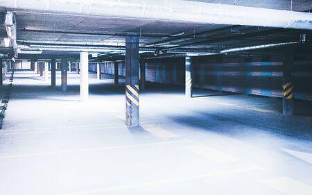 EU Underground car parking garage in a modern apartment building