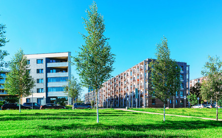 EU Park at complex of new apartment residential buildings with outdoor facilities, Vilnius