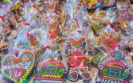 Gingerbread in Vilnius Christmas Market during Advent Standard-Bild