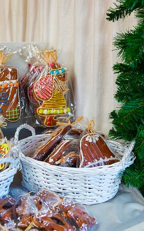Gingerbread on Vilnius Christmas Market at Advent Stock Photo
