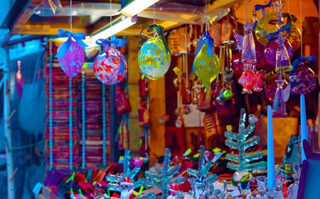 Christmas tree decoration souvenirs for sale in Riga new