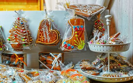 Gingerbread in Vilnius Christmas Market in Lithuania