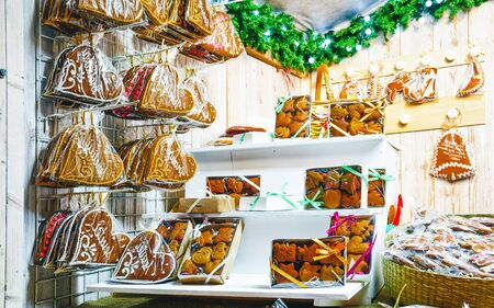 Gingerbread cookies on Christmas market in Vilnius