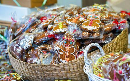 Gingerbread as souvenirs on Christmas Market of Vilnius