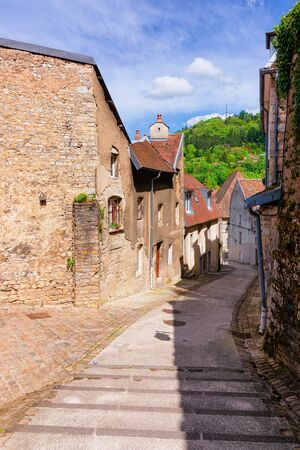Street view with staircase at Citadel of Besancon
