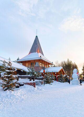 Christmas tree at Santa Office in Santa Village Rovaniemi Lapland