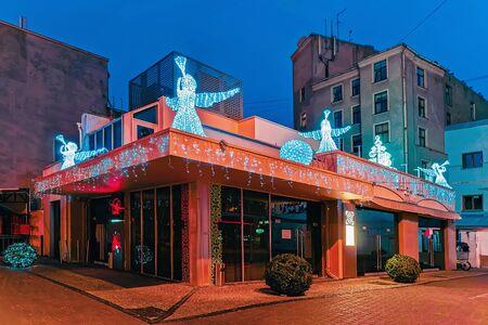 Angel statues on roof in Riga Latvia