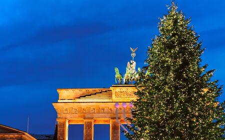 Brandenburg Gate Building of Berlin night Germany new