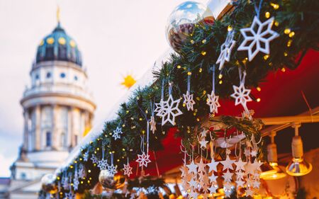 Christmas Market in Gendarmenmarkt in Winter Germany Berlin new