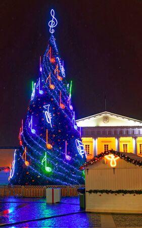 Christmas market in historic center of Vilnius new