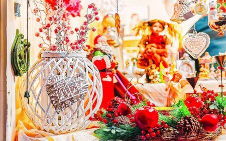 Christmas decoration on Xmas market in Vilnius new