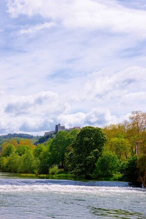 River Doubs and Citadel of Besancon of Bourgogne