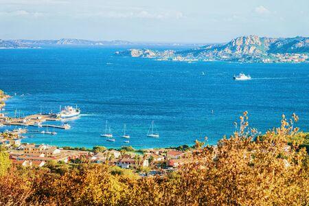 Landscape of Palau Maddalena Island in Costa Smeralda resort in Mediterranean sea, Sardinia, of Italy