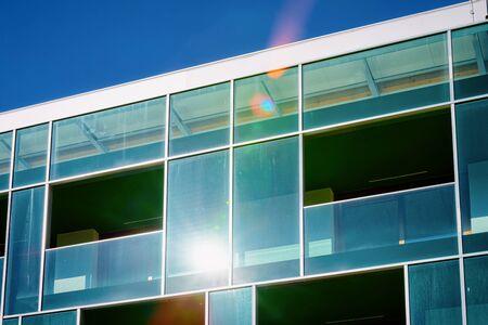 Modern building architecture at apartment house Rogaska Slatina blue sky Imagens