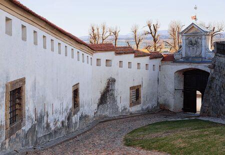 Architecture of entrance gate in Ptuj Castle in Slovenia. Ptujski grad in Slovenija. Travel