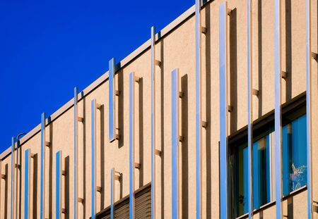 Modern building architecture of apartment house Rogaska Slatina blue sky