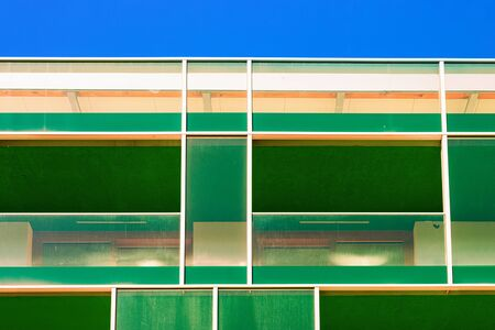 Modern building architecture apartment house Rogaska Slatina blue sky Stok Fotoğraf