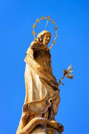 Sculpture of Znamenje on Alfonz Sarh Square in Slovenska Bistrica