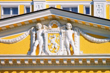 Decor at Hotel building in Old city in Rogaska Slatina Imagens