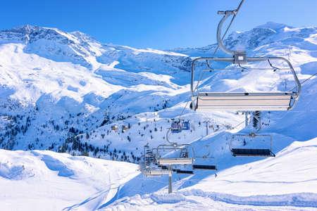 Chair lifts in Hintertux Glacier ski resort in Austria