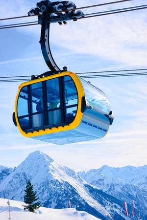Cable car at Penken ski resort at Tyrol in Austria