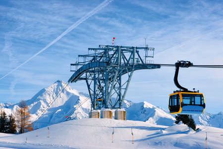 Cable car at Penken ski resort of Tyrol in Austria