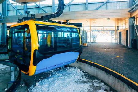 Cable car in Penken ski resort in Tyrol in Austria Standard-Bild