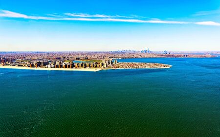 Aerial view of Long Island in New York reflex Stock Photo