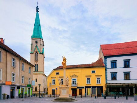 Cityscape with main square at Celje old town in Slovenia