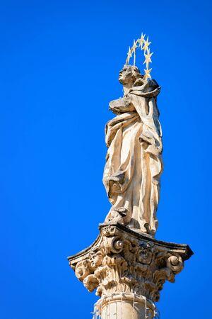 Plague Column in spa town Bad Radkersburg in Austria