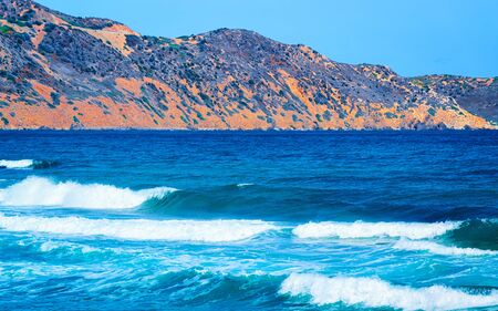 Mediterranean Sea in Buggerru in South Sardinia reflex