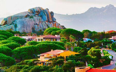 Baja Sardinia architecture and nature at Costa Smeralda reflex