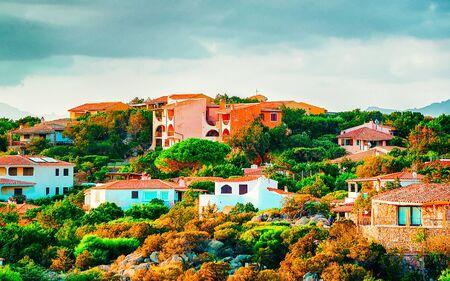 Baja Sardinia on Costa Smeralda in Sardinia in Italy reflex