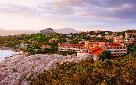 Landscape in Baja Sardinia luxury resort of Costa Smeralda reflex