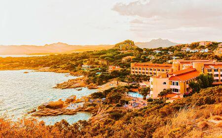 Baja Sardinia in Costa Smeralda Sardinia of Italy reflex