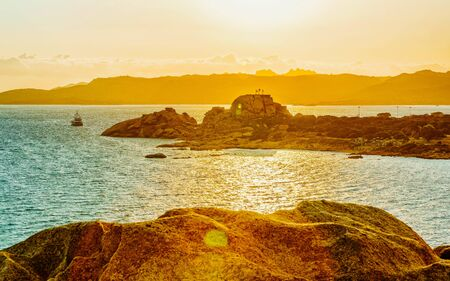 Baja Sardinia Beach Costa Smeralda reflex