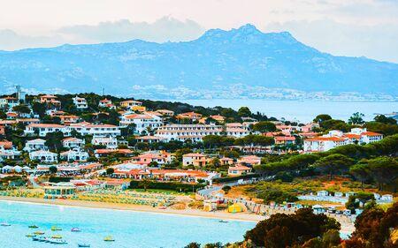 Baja Sardinia in Costa Smeralda on Sardinia of Italy reflex Standard-Bild
