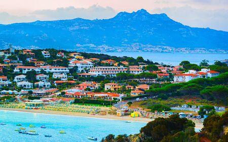 Baja Sardinia Beach in Costa Smeralda reflex