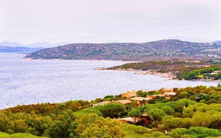 Capo Coda Cavallo seen in San Teodoro in Mediterranean sea reflex Standard-Bild