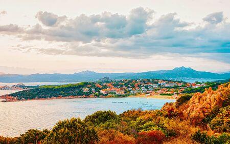 Baja Sardinia on Costa Smeralda Sardinia Italy reflex