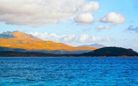 Mediterranean sea on Capriccioli Beach of Costa Smeralda reflex