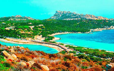 Beach in Capo Testa Santa Teresa Gallura Sardinia Italy reflex