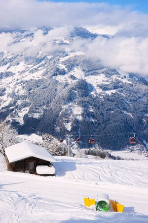 Chalet canon Red Cable cars in Zillertal Arena in Austria