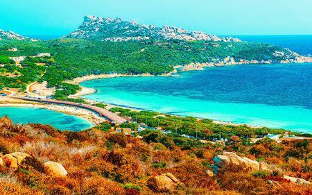 Beach Capo Testa in Santa Teresa Gallura Sardinia Italy reflex Stockfoto
