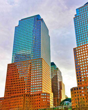 Three World Financial Center in Financial District reflex