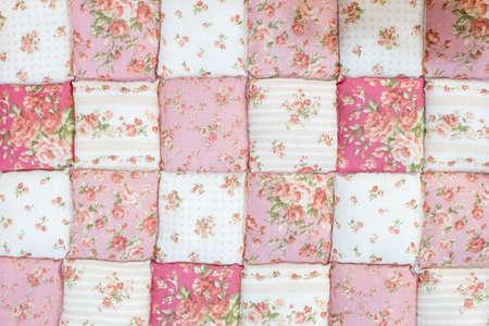 roze quilt bloempatroon achtergrond Stockfoto