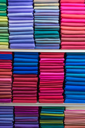 muttrah: pile of colorful thai silk Stock Photo